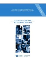 Commission on information and accountability for Women's and Children's Health: KEEPING PROMISES, MEASURING RESULTS pptx