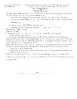ĐỀ THI TUYỂN SINH LỚP 10 TRƯỜNG THPT CHUYÊN HOÀNG VĂN THỤ HÒA BÌNH NĂM HỌC 2013- 2014 Môn thi: TOÁN docx