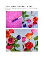 Những mẹo vặt làm hoa giấy dễ dàng pdf