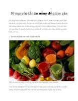 10 nguyên tắc ăn uống để giảm cân pptx
