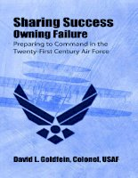 Sharing Success--Owning Failure: Preparing to Command in the Twenty-First Century Air Force doc