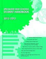 SPECIALIZED HIGH SCHOOLS STUDENT HANDBOOK 2012 -2013 pdf