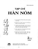 Xem xét thành phần trạng tố chỉ thời gian và địa điểm không gian trong ngữ vị từ tiếng Mông Lềnh pdf