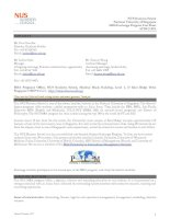 NUS Business School National University of Singapore MBA Exchange Program Fact Sheet AY2012/2013 pptx