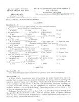 Bộ đề thi cao học - Bộ môn Hóa học - Đại Học Quy Nhơn