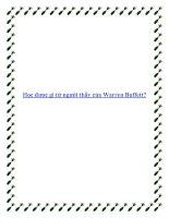 Học được gì từ người thầy của Warren Buffett? pdf