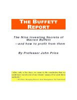 THE BUFFETT REPORT The Nine Investing Secrets of Warren Buffett —and how to profit from them pot