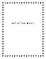 Bài Tập Về Đột biến NST ppt