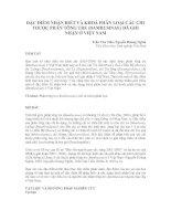 ĐẶC ĐIỂM NHẬN BIẾT VÀ KHOÁ PHÂN LOẠI CÁC CHI THUỘC PHÂN TÔNG TRE (BAMBUSINAE) ĐÃ GHI NHẬN Ở VIỆT NAM ppt