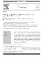 Critical evaluation of diagnostic aids for the detection of oral cancer docx