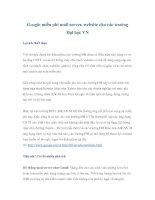 Google miễn phí mail server, website cho các trường Đại học VN pptx