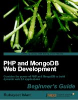 PHP and MongoDB Web Development Beginner''''s Guide pdf