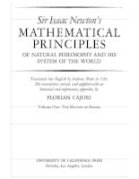 Mathematical principles of natural philosophy i the motion of bodies   i  newton