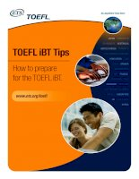 TOEFL ® iBT Tips - How to prepare for the TOEFL iBT. pptx