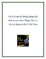 Án lệ trong hệ thống pháp luật dân sự các nước Pháp, Đức và việc sử dụng án lệ ở Việt Nam ppt