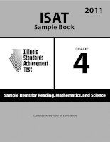 ISAT Sample Book 4: Sample Items for Reading,Mathematics, and Science 2011 pot