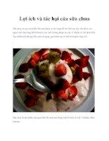 Lợi ích và tác hại của sữa chua potx