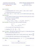 đề thi chọn học sinh giỏi toán lớp 11
