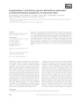 Báo cáo khoa học: Isoquinoline-1,3,4-trione and its derivatives attenuate b-amyloid-induced apoptosis of neuronal cells pdf