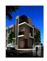 Thiết kế ngôi nhà hiện đại 2 mặt tiền potx