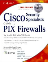Cisco Security Specialist''''s Guide to PIX Firewall doc