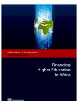 financing higher education in africa ppt