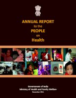 ANNUAL REPORT to the PEOPLE on Health ppt