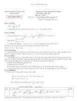 ĐỀ THI TUYỂN SINH LỚP 10 THPT NĂM HỌC 2012-2013 Môn thi : Toán - Tỉnh BẮC GIANG pdf