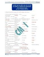 Luyện tập và chữa các câu về thì động từ trong đề thi đại học ( đáp án bài tập tự luyện) doc