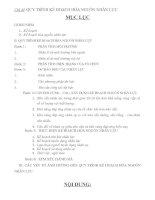 Chủ đề: QUY TRÌNH KẾ HOẠCH HÓA NGUỒN NHÂN LỰC docx