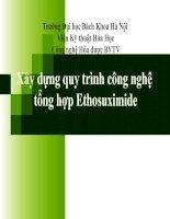 Xây dựng quy trình công nghệ tổng hợp Ethosuximide docx