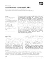 Báo cáo khoa học: Metabonomics in pharmaceutical R & D doc