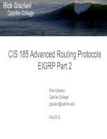 CIS 185 Advanced Routing ProtocolsEIGRP Part 2 pot