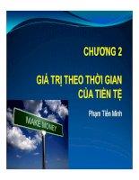 Chương 2: GIÁ TRỊ THEO THỜI GIAN CỦA TIỀN TỆ ppt
