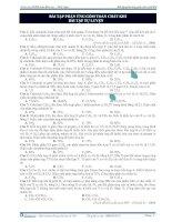 Bài tập phản ứng gồm toàn chất khí - bài tập tự luyện potx