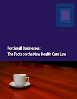 For Small Businesses: The Facts on the New Health Care Law doc