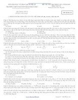 ĐỀ THI THỬ ĐẠI HỌC LẦN 1 NĂM 2013 Môn: VẬT LÍ TRƯỜNG THPT CHUYÊN PHAN BỘI CHÂU pdf