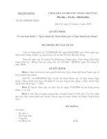 QCXDVN 01-2008-BXD- Quy chuẩn kỹ thuật Quốc gia về Quy hoạch xây dựng - THAY PHẦN II QCXDVN 1996 docx