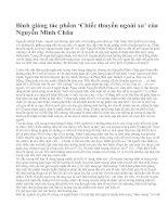 Bình giảng tác phẩm 'Chiếc thuyền ngoài xa' của Nguyễn Minh Châu
