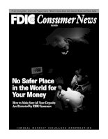 No Safer Place in the World for Your Money - How to Make Sure All Your Deposits Are Protected by FDIC Insurance docx