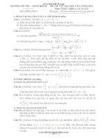 đề thi thử đại học lần 1 môn toán khối a,b 2014 - thpt amsterdam hà nội