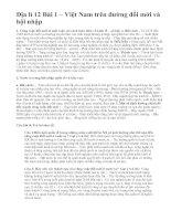 Địa lí 12 Bài 1 – Việt Nam trên đường đổi mới và hội nhập