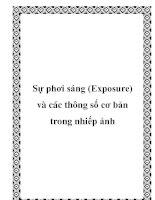 Sự phơi sáng (Exposure) và các thông số cơ bản trong nhiếp ảnh pptx