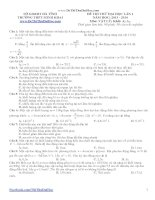 Đề thi thử môn vật lý trường THPT Minh Khai