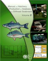 Manual on Hatchery Production of Seabass and Gilthead Seabream Volume 2