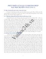 PHÁT TRIỂN LÝ LUẬN VÀ PHƯƠNG PHÁP DẠY HỌC BỘ MÔN TOÁN Phần 2 pptx