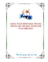 14 BÀI TOÁN HÌNH HỌC PHẲNG TRONG ĐỀ THI HỌC SINH GIỎI NĂM 2000 - 2010 doc