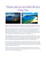 Thành phố du lịch Biển Bà Rịa Vũng Tàu ppt