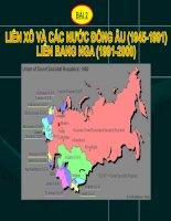 Liên xô và các nước Đông Âu - bài 2 môn lịch sử