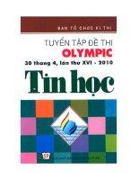 tuyển tập đề thi olympic 30 - 4 lần thứ xvi môn tin học 2010